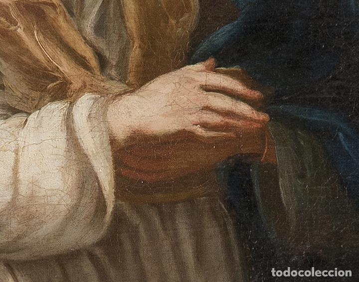 Arte: Óleo lienzo Inmaculada Escuela valenciana siglo XVIII - Foto 9 - 197343010