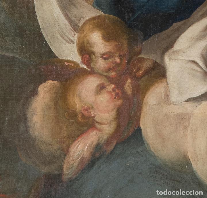 Arte: Óleo lienzo Inmaculada Escuela valenciana siglo XVIII - Foto 10 - 197343010