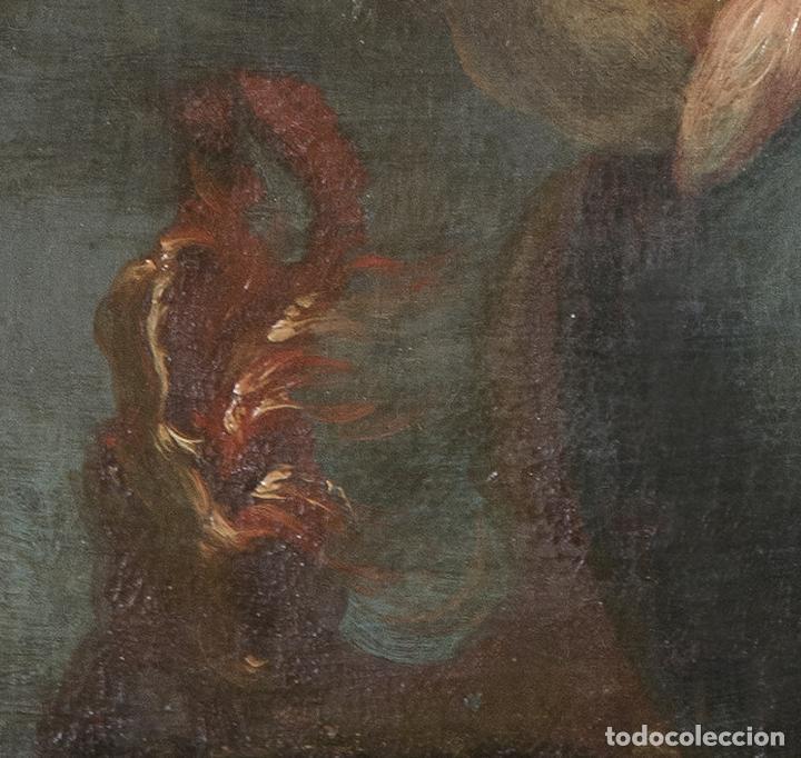 Arte: Óleo lienzo Inmaculada Escuela valenciana siglo XVIII - Foto 11 - 197343010