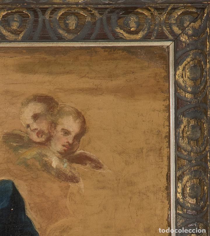 Arte: Óleo lienzo Inmaculada Escuela valenciana siglo XVIII - Foto 13 - 197343010
