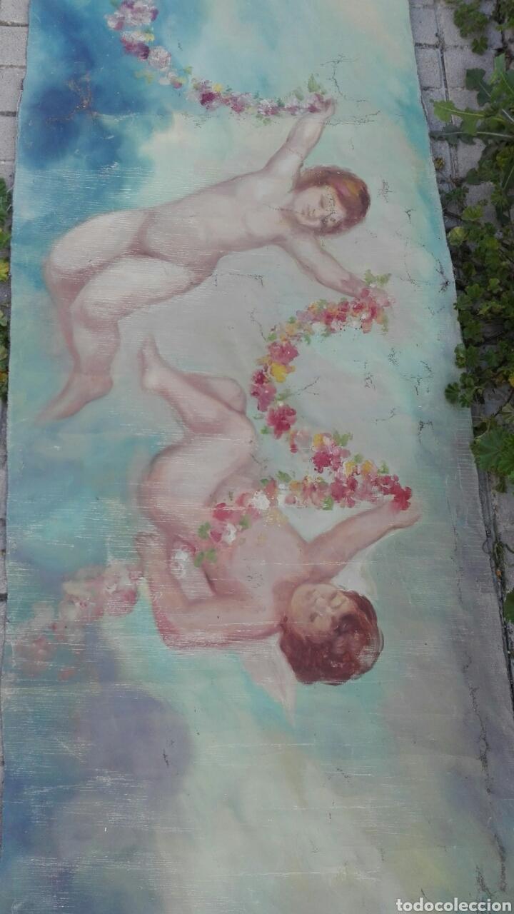 Arte: Óleo sobre lienzo de Ángeles 4500 cm x 70 cm aproximada - Foto 2 - 201671568