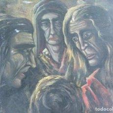 Arte: ÓLEO SOBRE CARTÓN DE J. SALGUERO. OBRA DE 1967. Lote 215852367
