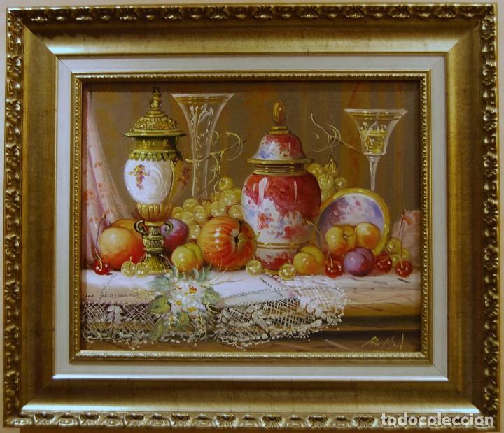 ROBERTO MICHEL - JAÉN 1.944 - NATURALEZA MUERTA - ÓLEO - ENMARCADO (Arte - Pintura - Pintura al Óleo Contemporánea )