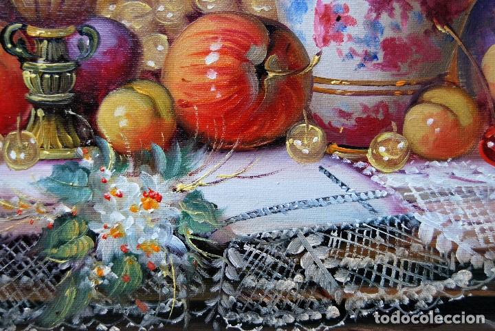Arte: Roberto Michel - Jaén 1.944 - NATURALEZA MUERTA - Óleo - Enmarcado - Foto 7 - 201973410