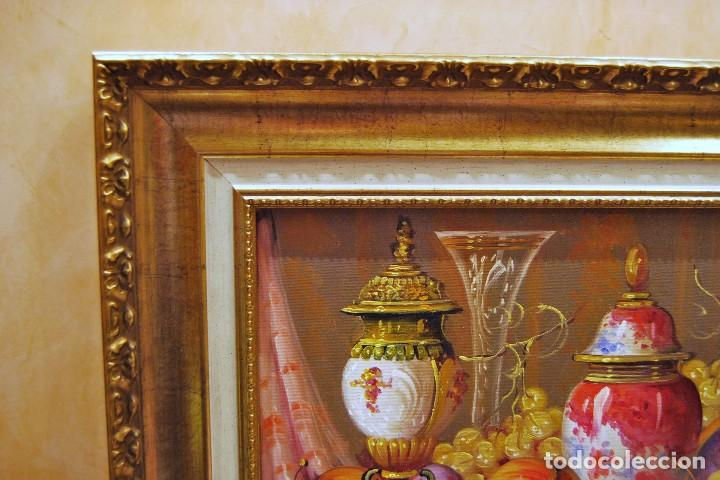 Arte: Roberto Michel - Jaén 1.944 - NATURALEZA MUERTA - Óleo - Enmarcado - Foto 10 - 201973410
