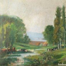 Arte: DOMÈNECH CARLES ROSICH (BARCELONA, 1888 - OLOT, 1962) - PAISAJE DE BESALÚ.OLEO/TELA.FIRMADO.1932.. Lote 196348246