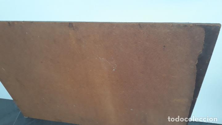 Arte: magnifica obra a identificar de maestro,oleo sobre lienzo pegado a carton,madrid siglo xix - Foto 10 - 202075691
