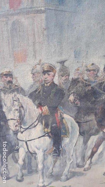 Arte: magnifica obra a identificar de maestro,oleo sobre lienzo pegado a carton,madrid siglo xix - Foto 15 - 202075691