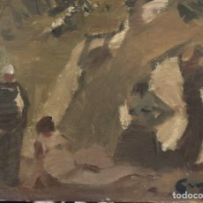 Arte: PERE GUSSINYE-ÓLEO SOBRE TABLA.. Lote 202303338