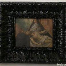 Arte: PINTURA OLEO RELIGIOSO SIGLO XVIII CRISTO LLACENTE Y DOLOROSA. Lote 202311457