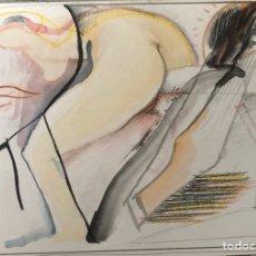 Arte: JOSÉ LUIS CANO-TÉCNICA MIXTA SOBRE CARTÓN-EROTICO.. Lote 202317523