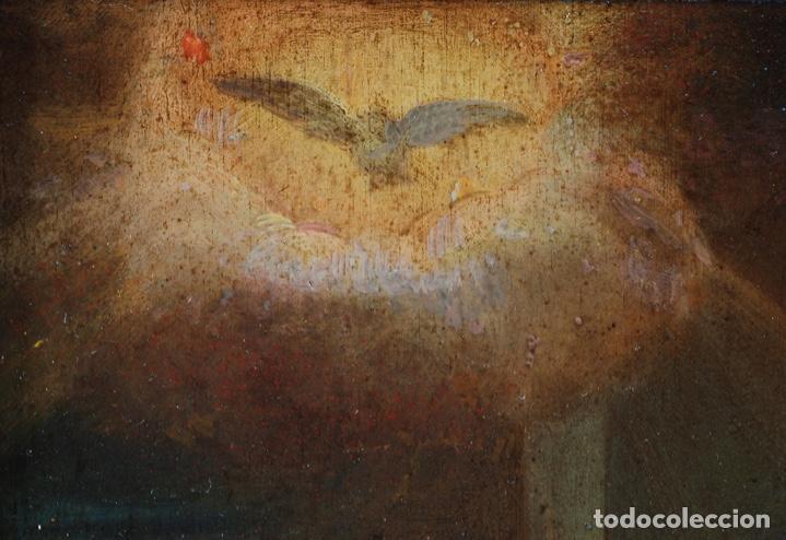Arte: Óleo tabla Visitación de la Virgen a Su prima Santa Isabel Escuela Sevillana siglo XVII - Foto 6 - 202586097