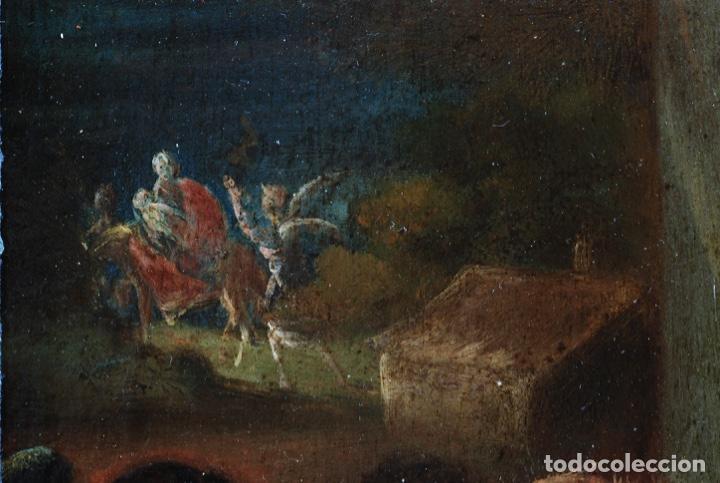 Arte: Óleo tabla Visitación de la Virgen a Su prima Santa Isabel Escuela Sevillana siglo XVII - Foto 8 - 202586097