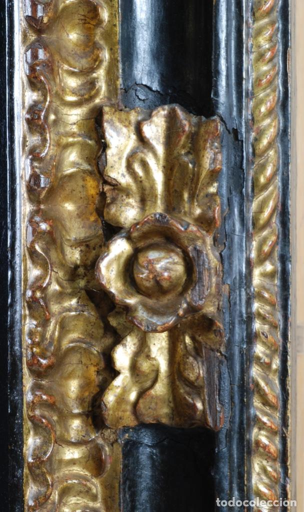 Arte: Óleo tabla Visitación de la Virgen a Su prima Santa Isabel Escuela Sevillana siglo XVII - Foto 11 - 202586097