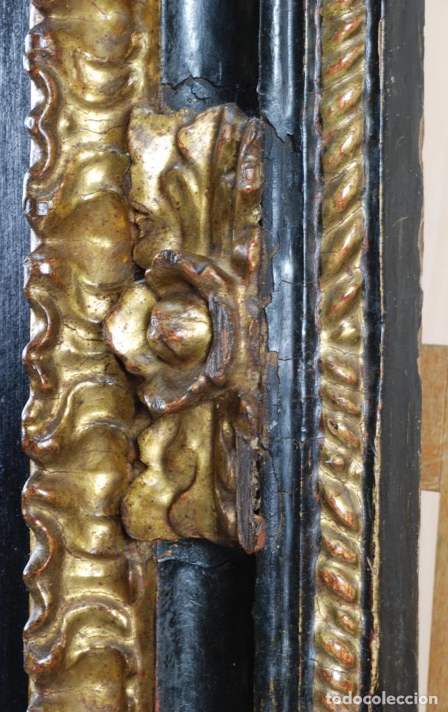 Arte: Óleo tabla Visitación de la Virgen a Su prima Santa Isabel Escuela Sevillana siglo XVII - Foto 12 - 202586097