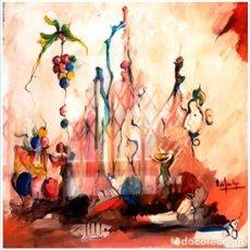 Arte: SANTIAGO GALLARDO,ROSENDO DE (C. REAL 1936-2013)-HOMENAJE AL VINO- IMPRESIONISTA.FIRMADO.73 X 60 CM.. Lote 202599500