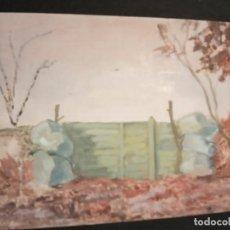 """Arte: OLEO SOBRE TABLERO """"LA ENTRADA"""". Lote 202725033"""