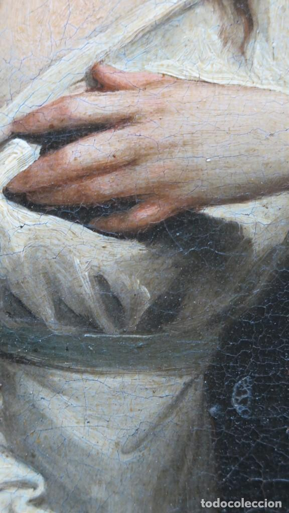 Arte: INTERSANTE ESCENA TENEBRISTA DE INTERIOR. OLEO S/ LIENZO. SIGLO XVII-XVIII - Foto 4 - 202842731