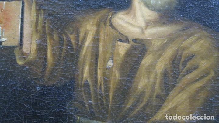 Arte: INTERSANTE ESCENA TENEBRISTA DE INTERIOR. OLEO S/ LIENZO. SIGLO XVII-XVIII - Foto 7 - 202842731