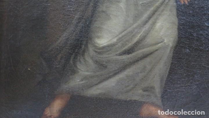 Arte: INTERSANTE ESCENA TENEBRISTA DE INTERIOR. OLEO S/ LIENZO. SIGLO XVII-XVIII - Foto 11 - 202842731