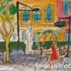 Arte: ALMERÍA.-PLAZA DEL EDUCADOR O DE CASINELLO. ÓLEO LIENZO EN BASTIDOR 40X40CM. DE CRESPO. Lote 202980036