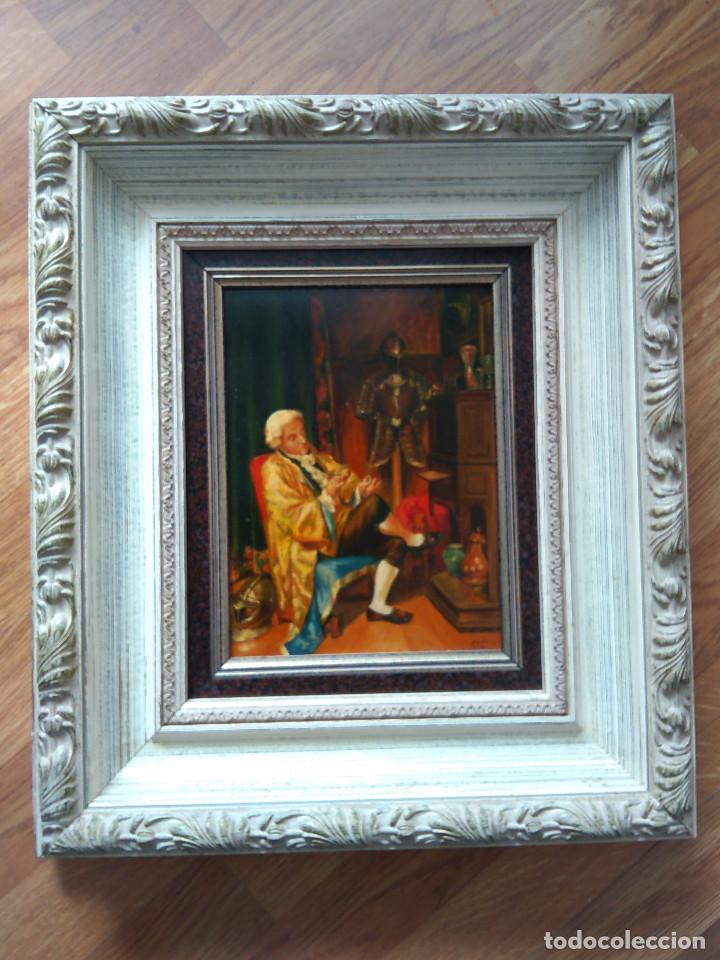 """CUADRO AL OLEO """"EL COLECCIONISTA"""" (Arte - Pintura - Pintura al Óleo Moderna sin fecha definida)"""
