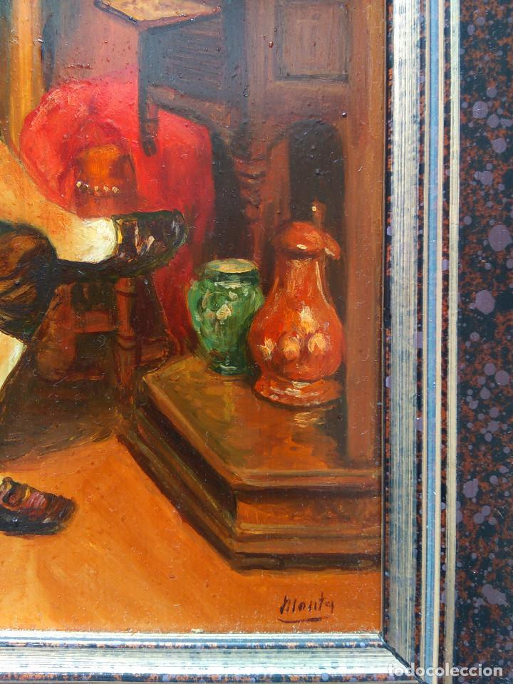 """Arte: CUADRO AL OLEO """"EL COLECCIONISTA"""" - Foto 3 - 202988191"""