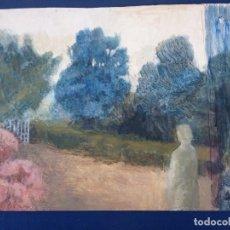 Arte: OLEO MIRANDO LA ANTRADA POR M.CALVET SIN FIRMAR. Lote 203016397