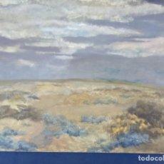Arte: OLEO SOBRE TABLERO EL CAMPO Y LAS NUBES. Lote 203018687