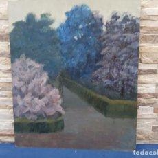 Arte: OLEO SOBRE TABLERO PASEANDO. Lote 203019603