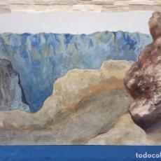 Arte: OLEO SOBRE TABLERO MONTAÑAS. Lote 203039446