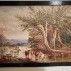 Arte: EXTRAORDINARIA PINTURA INGLESA FIRMADA PRINCES 1804. Lote 203137166