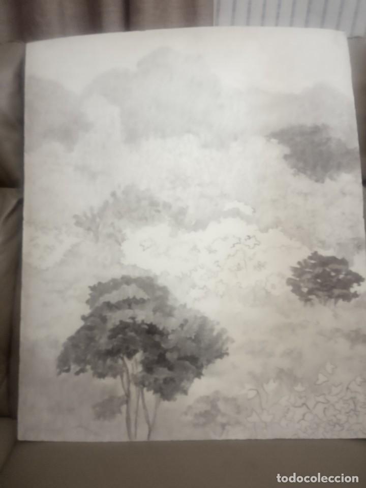 OLEO SOBRE TABLERO ARBOLES Y PLANTAS (Arte - Pintura - Pintura al Óleo Moderna siglo XIX)