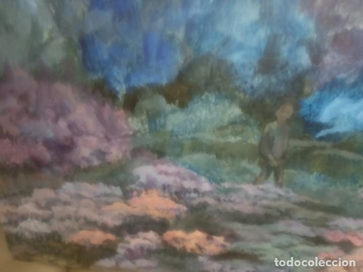 Arte: OLEO SOBRE TABLERO DOS PERSONAS PASEANDO - Foto 5 - 203146448