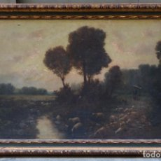 Arte: JOSEP ARRAU BARBA (1802 - 1872), PAISAJE ROMÁNTICO, PINTURA AL ÓLEO SOBRE TELA, FIRMADO, CON MARCO.. Lote 203232181