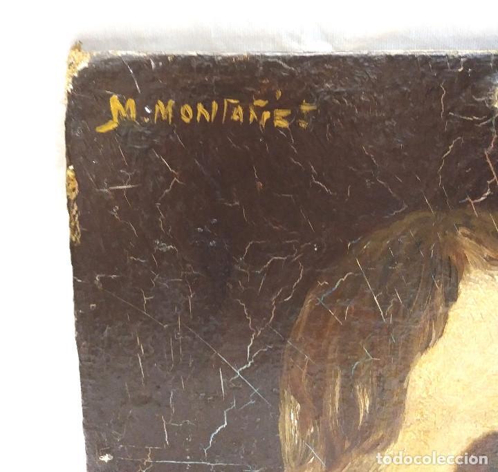 Arte: Escultor Martinez Montañes Retrato al Oleo sobre tela, firma ilegible. - Foto 2 - 203277913