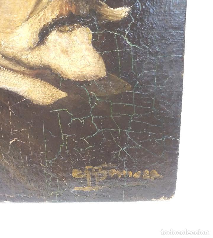 Arte: Escultor Martinez Montañes Retrato al Oleo sobre tela, firma ilegible. - Foto 3 - 203277913