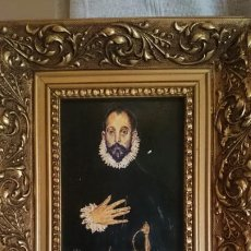 Arte: OLEO COPIA EL CABALLERO DE LA MANO DEL GRECO. Lote 203279666