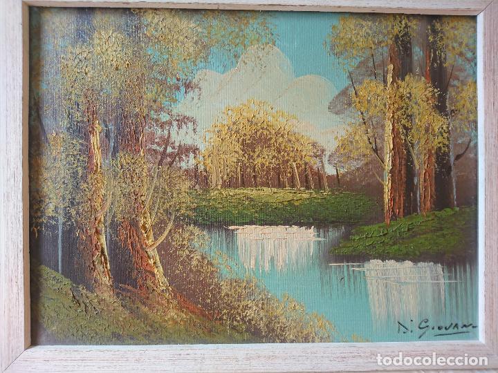Arte: Hermoso paisaje al Óleo. Firmado Di Giovanni - Foto 2 - 203342362