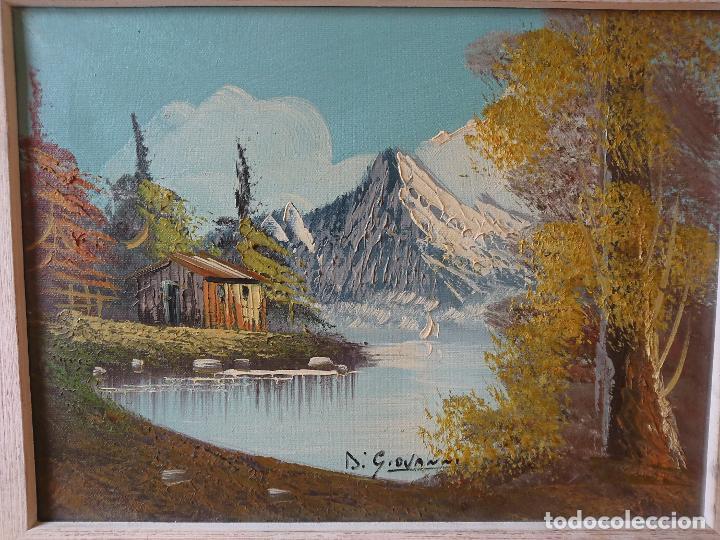 Arte: Precioso óleo de los Alpes italianos Firmado Di Giovanni - Foto 2 - 203343405