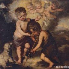 Arte: ESCUELA ESPAÑOLA, SIGLO XVIII - LOS NIÑOS DE LA CONCHA - ÓLEO/LIENZO. - 35,5 X 42 CMS (43,5X50,5CM). Lote 203347088