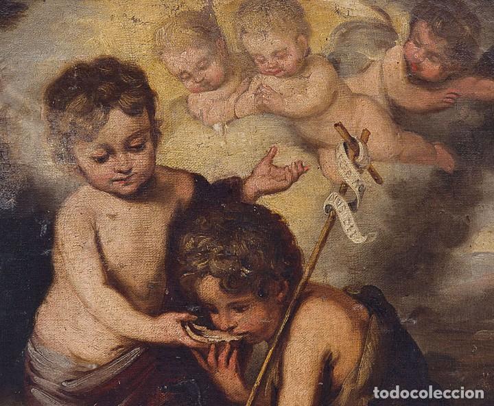 Arte: Escuela Española, Siglo XVIII - Los niños de la Concha - Óleo/Lienzo. - 35,5 x 42 cms (43,5x50,5cm) - Foto 4 - 203347088