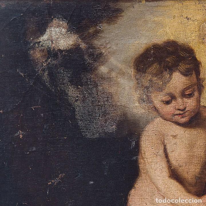 Arte: Escuela Española, Siglo XVIII - Los niños de la Concha - Óleo/Lienzo. - 35,5 x 42 cms (43,5x50,5cm) - Foto 6 - 203347088