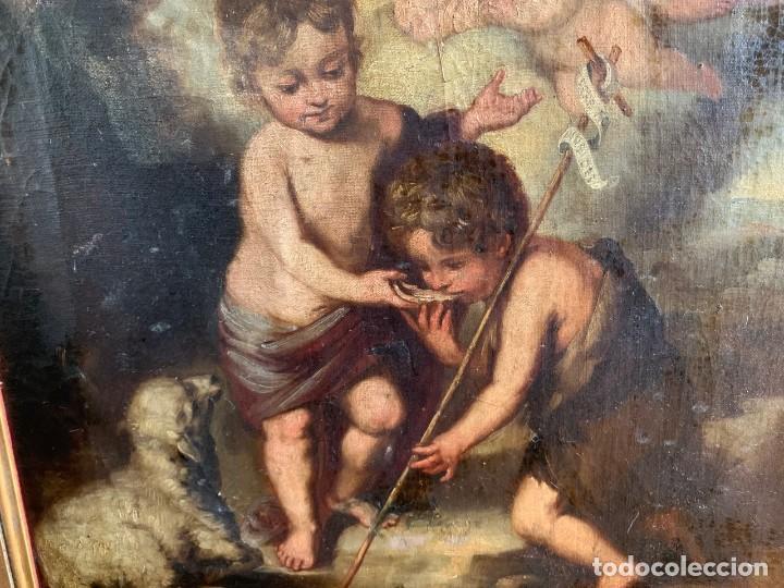 Arte: Escuela Española, Siglo XVIII - Los niños de la Concha - Óleo/Lienzo. - 35,5 x 42 cms (43,5x50,5cm) - Foto 7 - 203347088