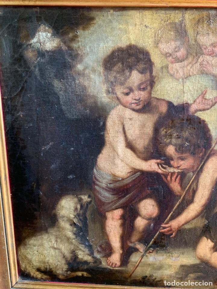 Arte: Escuela Española, Siglo XVIII - Los niños de la Concha - Óleo/Lienzo. - 35,5 x 42 cms (43,5x50,5cm) - Foto 8 - 203347088
