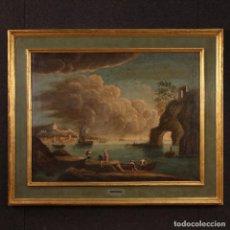 Arte: PINTURA MARINA ITALIANA ANTIGUA DEL SIGLO XVIII. Lote 203352796