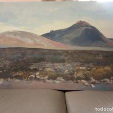 Arte: OLEO SOBRE TABLERO LAS MONTAÑAS. Lote 203368002