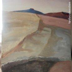 Arte: OLEO SOBRE TABLERO PAISAJE VOLVANICO. Lote 203369428