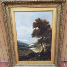 Arte: J. JOHNSTON 1879 - BY THE SEVERN - ANTIGUO OLEO SOBRE LIENZO SIGLO XIX PINTURA INGLESA. Lote 203530675