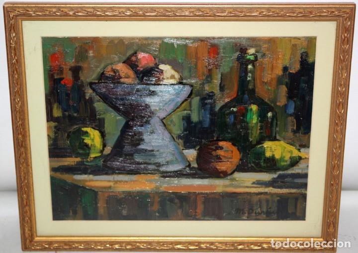Arte: MIQUEL DURAN i CARRERA (Olot, 1939) OLEO SOBRE CARTULINA. BODEGON - Foto 2 - 203538667